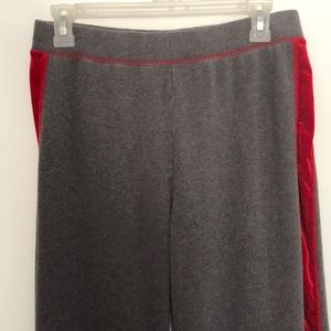 Danskin Now gray with red trimmed sweat pants